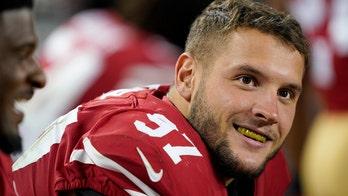 San Francisco 49ers' Nick Bosa gets revenge on Cleveland Browns' Baker Mayfield over flag-planting incident