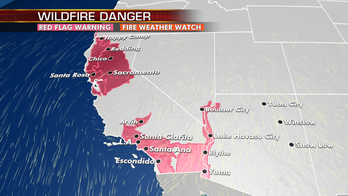Extremely critical fire conditions continue in California; wet Halloween expected for eastern third of country