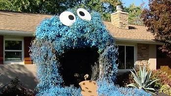 Woman's Halloween display of giant Cookie Monster amazes community