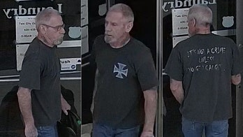Missouri man wearing 'it's not a crime unless you get caught' T-shirt wanted for robbing laundromat