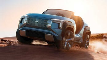 Mitsubishi's turbine-powered off-road buggy runs on alcohol