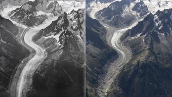Mont Blanc ice loss revealed in aerial photos