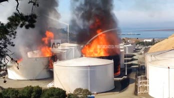 Northern California oil facility fire causes authorities to declare hazmat emergency, order residents to stay inside