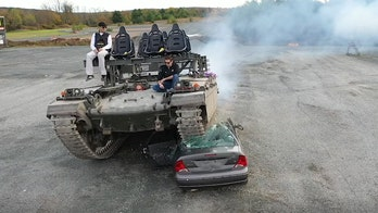 Here's how to crush a car with a tank