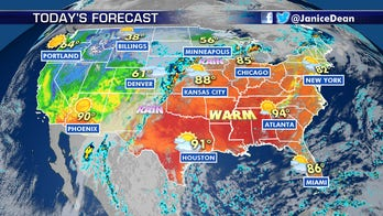 Cold and snow for parts of the West, summertime heat for the South and East