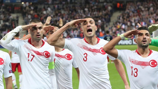 Turkey soccer players defy UEFA investigation threat with military-salute celebration amid Syria incursion