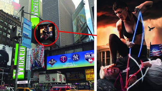 Controversial Dhvani billboard in Times Square shows Trump hogtied
