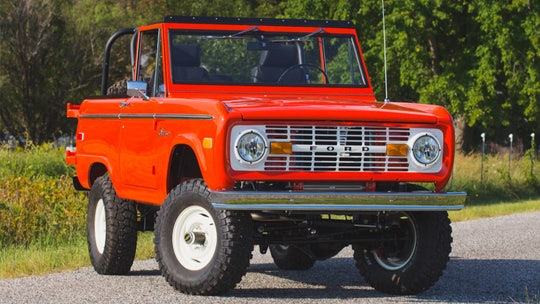 This classic Ford Bronco is powered by an electric 'V8'