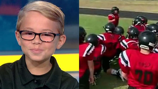 10-year-old goes viral for Texas-sized pep talk to football teammates