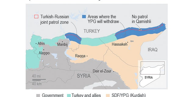 How Syria might look following the implementation of the Russia-Turkish deal. (AP)