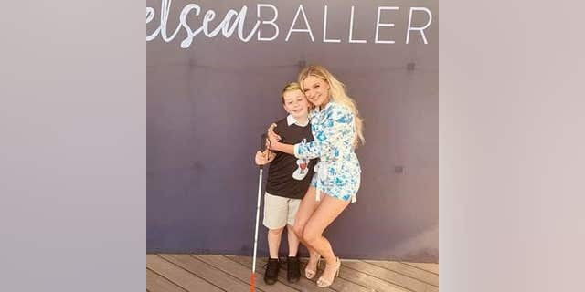 Country music star Kelsea Ballerini surprised Ayden with an electric guitar customized with his name in Braille. Ayden is blind and was diagnosed with brain cancer in 2013, according to his mother, Tiffany Henke.