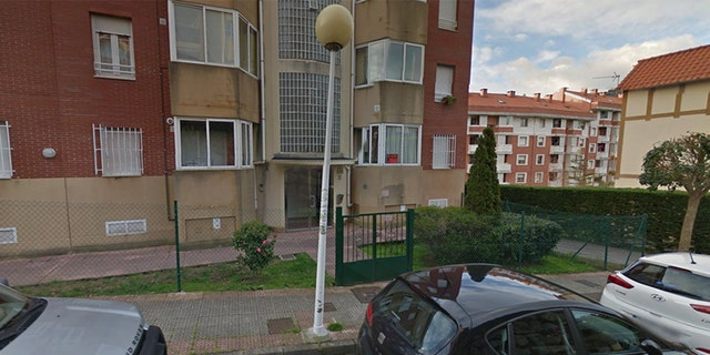 The home in Castro Urdiales where the trash bags are reported to have been left.