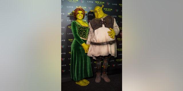 Heidi Klum and Tom Kaulitz at Klum's Halloween party in 2018.