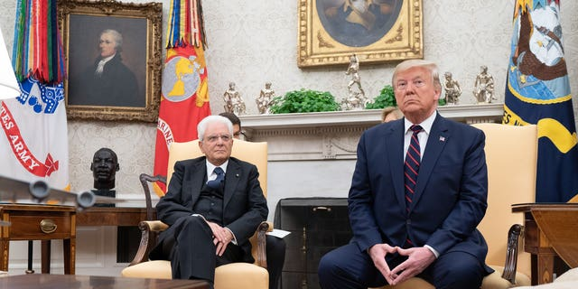 President Trump participates in a bilateral meeting with Italian President Sergio Mattarella Wednesday in the Oval Office. (Official White House Photo by Shealah Craighead/Released)