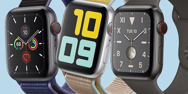 Apple Watch Series 5 is seen above.