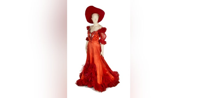 "The red dress that Mae West wore as the character Diamond Lil in the 1933 Oscar-nominated Lowell Sherman film ""She Done Him Wrong"" with Cary Grant is the most valued piece in the auction, The Hollywood Reporter shared. It is estimated to generate bids of $10,000 to $20,000."