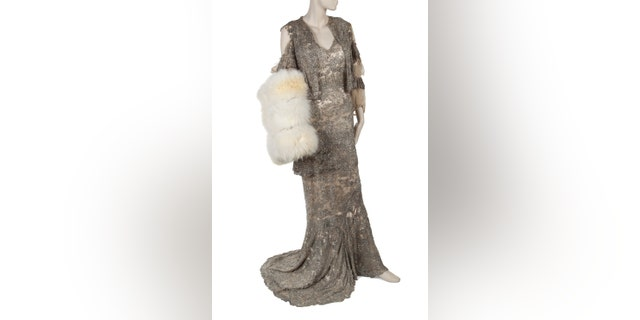One of Mae West's gowns that longtime assistant and secretary Tim Malachosky saved from over the years.