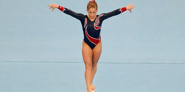 BEIJING - AUGUST 19: Shawn Johnson of the USA competed on the Women's Beam Final at the National Indoor Stadium on Day 11 of the Beijing 2008 Olympic Games on August 19, 2008 in Beijing, China.