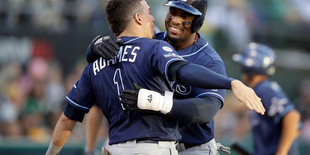 Westlake Legal Group 9d172273-Tampa-Bay-Rays Tampa Bay Rays top Oakland A's 5-1 in AL Wild Card Game, as Yandy Diaz smacks 2 homers Janie McCauley fox-news/sports/mlb/tampa-bay-rays fox-news/sports/mlb/oakland-athletics fox-news/sports/mlb fnc/sports fnc Associated Press article 24492d09-b11e-56e2-bc82-77fba198a108