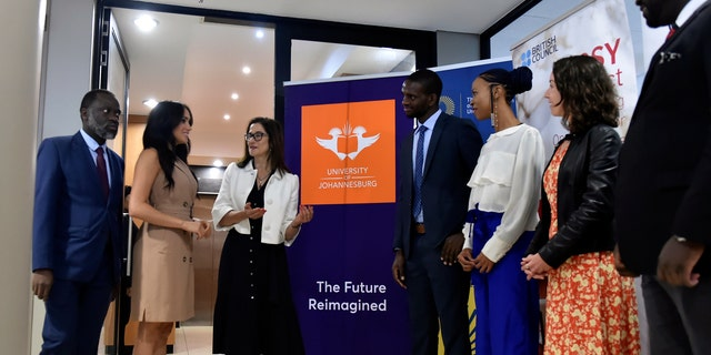 The duchess appeared at the University of Johannesburg for a roundtable discussion with the Association of Commonwealth Universities.