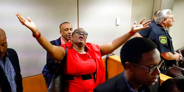 Botham Jean's mother, Allison Jean, rejoiced in the courtroom after Guyger was found guilty of murder Tuesday.