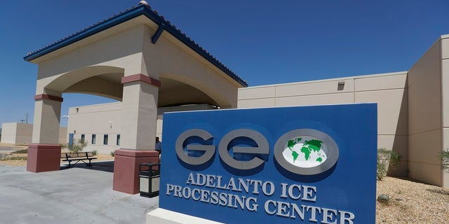 Another view of the Adelanto facility. (AP Photo/Chris Carlson)
