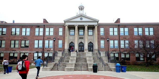 This Nov. 12, 2018, file photo shows West High School in Madison, Wis., where Marlon Anderson was working as a security guard. (John Hart/Wisconsin State Journal via AP, File)
