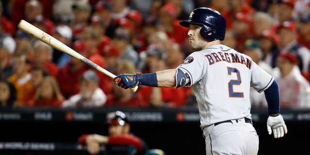 Westlake Legal Group AP19300104070675 Astros top Nats 8-1 to tie World Series, led by Urquidy, Bregman RONALD BLUM fox-news/sports/mlb/washington-nationals fox-news/sports/mlb/houston-astros fox-news/sports/mlb-postseason fox-news/sports/mlb fnc/sports fnc Associated Press article 5cf49c8e-17c4-5a98-a5d9-100a6756f967