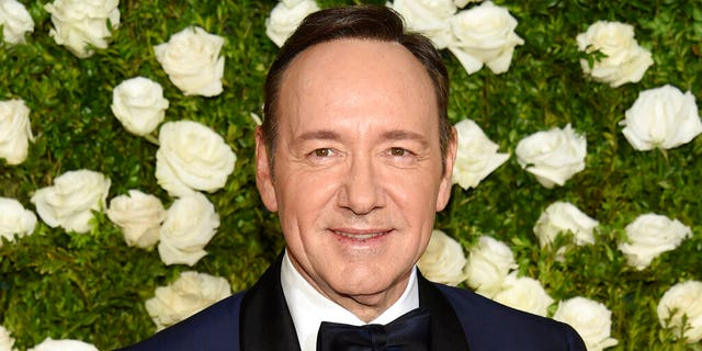 Kevin Spacey is seen at the 71st annual Tony Awards at Radio City Music Hall in New York.