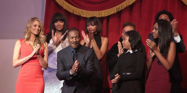 Eddie Murphy is honored with the Mark Twain Prize for American Humor at the Kennedy Center for the Performing Arts on Sunday, Oct. 18, 2015, in Washington.