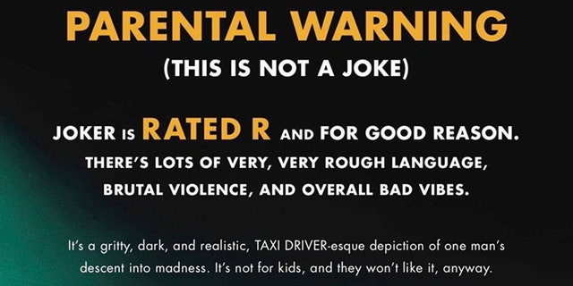 "The Alamo Drafthouse San Antonio issued a parental warning about ""Joker,"" which has since been deleted."