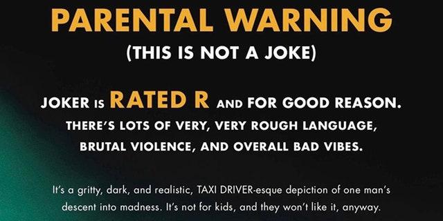 Kids Won T Enjoy Joker Texas Theater Says In Rare Warning