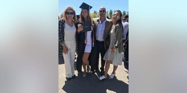 Amer Fakhoury at his daughter's graduation.