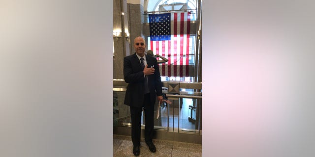 Amer Fakhoury after getting U.S. citizenship.