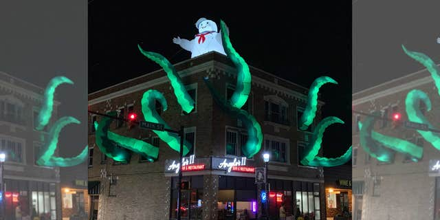 """We always decorate the building for holidays,"" restaurant owner Ryan Dzimiera told Fox News. ""This is the first year for Halloween."""