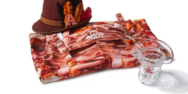 """Arby's is violation out a """"Meaterhosen"""" and """"Beefvarian Hat"""" to applaud – we guessed it – Meatoberfest, a meat-centric take on Oktoberfest."""