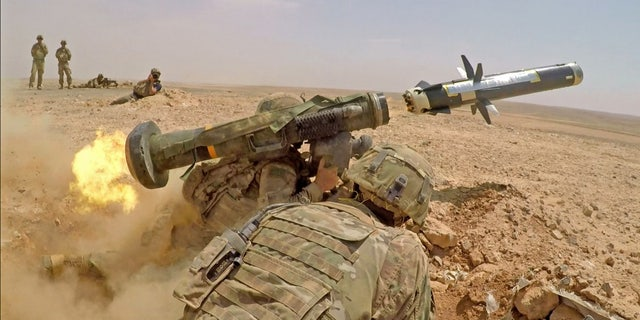 Infantry Soldiers with 1st Battalion, 8th Infantry Regiment, 3rd Armored Brigade Combat Team, 4th Infantry Division, fire an FGM-148 Javelin during a combined arms live fire exercise in Jordan on August 27, 2019, in support of Eager Lion - file photo.