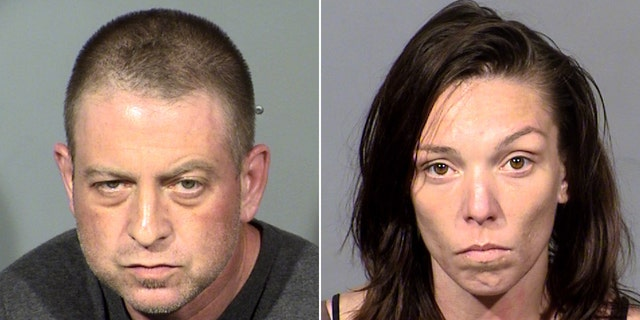 Christopher Prestipino, 45, and Lisa Mort, 31, were charged last week in connection to a body recovered on Oct. 8 in the Nevada desert found encased in concrete inside a wooden structure, police said.