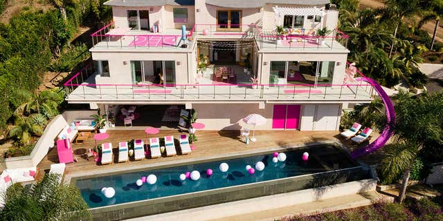 """""""From her hobby room and personal cinema, to the infinity pool and outdoor meditation zone, every corner of the house reflects Barbie's lifetime as a role model to young women everywhere,"""" reads a press release shared by Airbnb."""