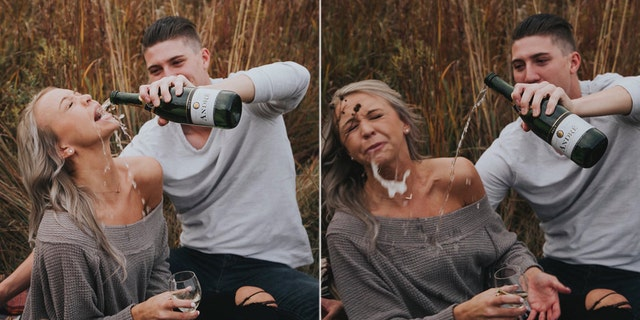 The couple starting making the rounds on social media after sharing photos of a failed attempt to recreate a picture found on Pinterest.
