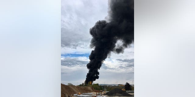 The crash happened around 10 a.m. at Bradley International Airport in Connecticut.