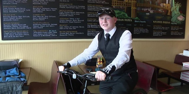 The new bike was giftedto Charly Spor, 17, on Thursday after Brian Himes, the owner of Italian Style Pizza & Pasta, in Folcroft, Pa., and members of the community raised more than $200 in five days.