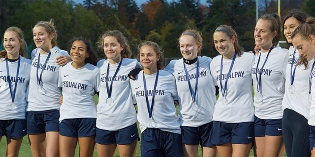 The jerseys were partial of a special fund-raising bid for girls lady sports in a community,