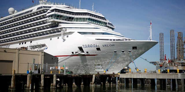 The man suffered the accident aboard the Carnival Valor, seen here docked at the Port of Galveston in Texas in 2017.