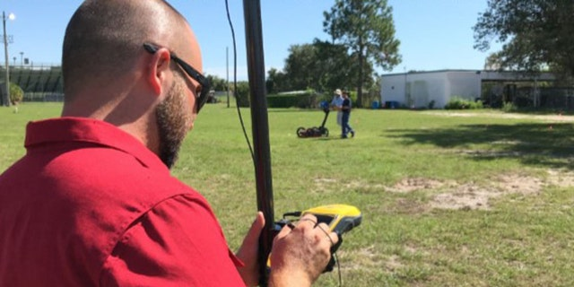 Researchers used ground penetrating radar to hunt the for the cemetery on the campus of King High School in Tampa.