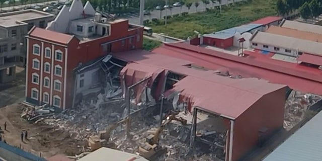True Jesus Church, located in Caidu town of Shangcai county, under the jurisdiction of Zhumadian city in the central province of Henan, was destroyed by Communist authorities.