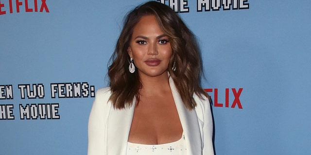 "Chrissy Teigen attends the LA premiere of Netflix's ""Between Two Ferns: The Movie"" at ArcLight Hollywood on September 16, 2019 in Hollywood, California. (Photo by David Livingston/Getty Images)"