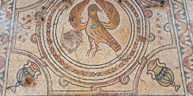 A mosaic Eagle, a symbol of the Byzantine Empire, was discovered at the site.