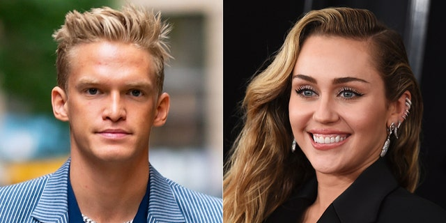 Cody Simpson, left, and Miley Cyrus, right, were first linked back in late 2014.