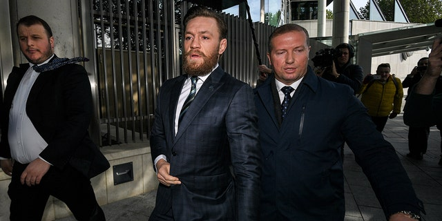 Conor McGregor leaves the Criminal Courts of Justice in Dublin on October 11, 2019. (Photo By Ramsey Cardy/Sportsfile via Getty Images)